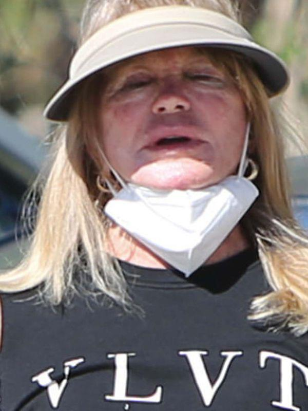 Goldie Hawn Goes Hiking with a Friend